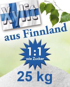 Finnland Birkenzucker (Xylit) 25kg Sack mittlere Körnung