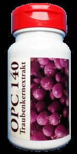 OPC 140mg Traubenkernextrakt, 60 Kapseln reines französisches Traubenkernextrakt ohne Zusatzstoffe
