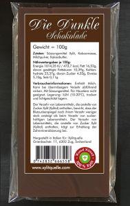 Xylit Milch-Schokolade Die leckere Dunkle, 100g Flachtafel