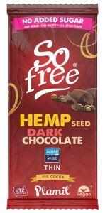 Xylit Schokolade zartbitter HANFSAMEN, 72% Kakao, Tafel, 70g