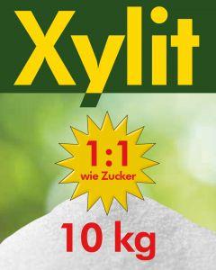 Xylit Birkenzucker 10kg feine Körnung - 10 x 1kg Beutel