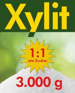 Xylit Birkenzucker 3kg - 3 x 1kg Beutel