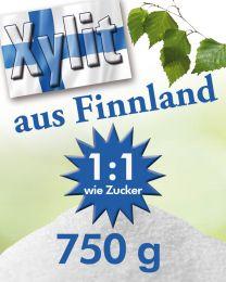 Finnland Birkenzucker (Xylit), 750g Dose, mittlere Körnung