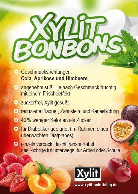 Xylit Xylitol Bonbons in 3 leckeren Geschmacksrichtungen bei uns bestellen. Testen Sie selbst.